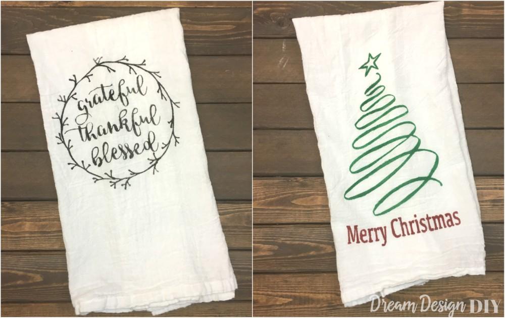thanksgiving christmas kitchen towel