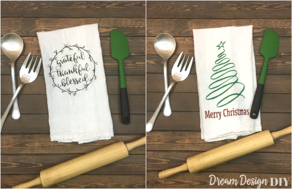 ... Thanksgiving And Christmas Kitchen Towel