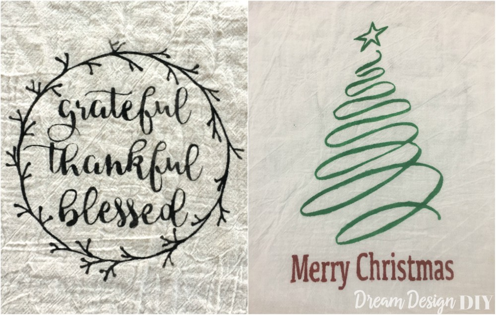 thanksgiving and christmas kitchen towel