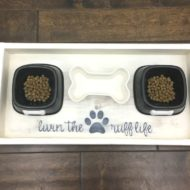 Dog Food Wood Tray – DIY