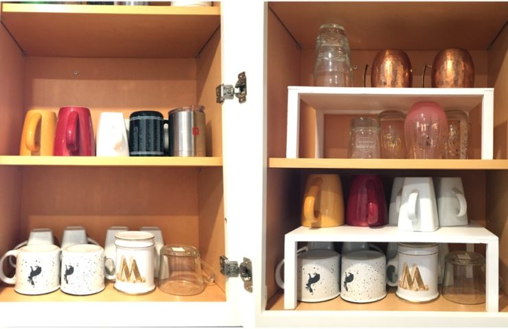 Double your Space with Easy Custom Made Cabinet Shelves