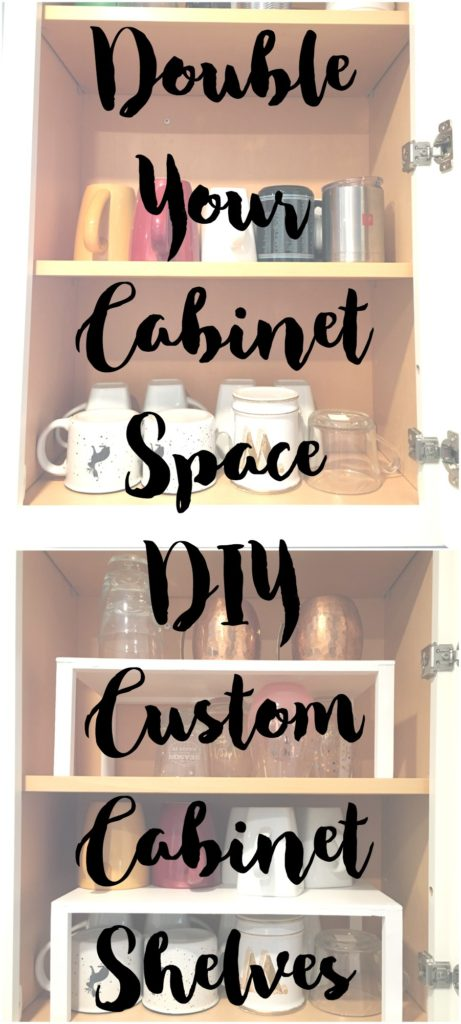 What a cheap and easy way to add more cabinet space.  I can customize these to fit in my particular cabinets.  The ones I got at IKEA don't fit.