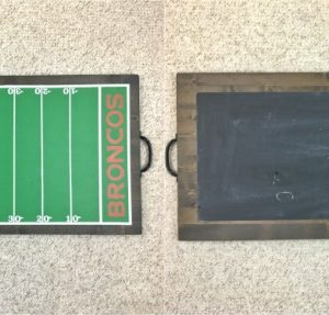 Chalkboard and Football Serving Tray