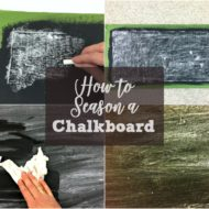 How to Season a Chalkboard Surface