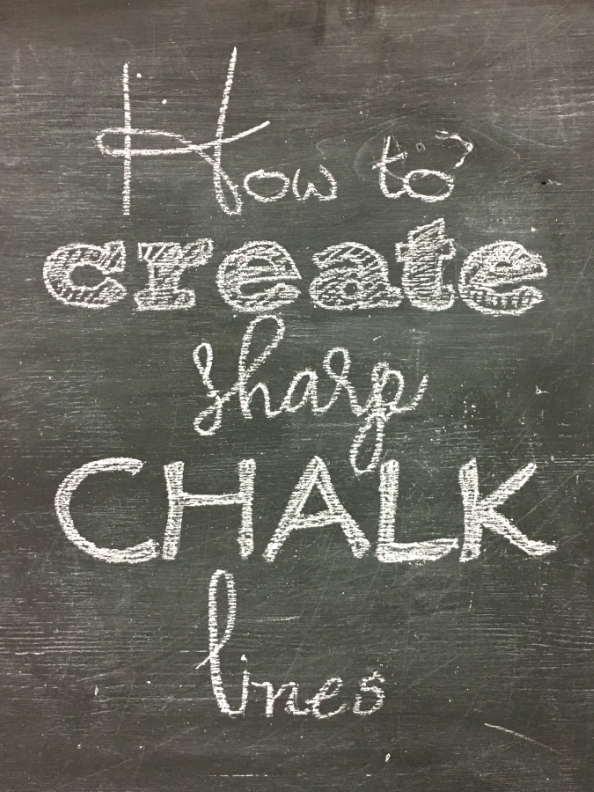 Find out how to make awesome chalkboard art by using sharp chalk lines. It is a simple easy tip.