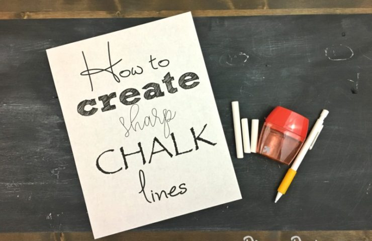 How to Create Sharp Chalk Lines