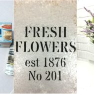Fresh Flowers Vase – Faux Galvanized Finish