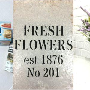 Fresh Flowers Vase – Faux Galvanized Finish