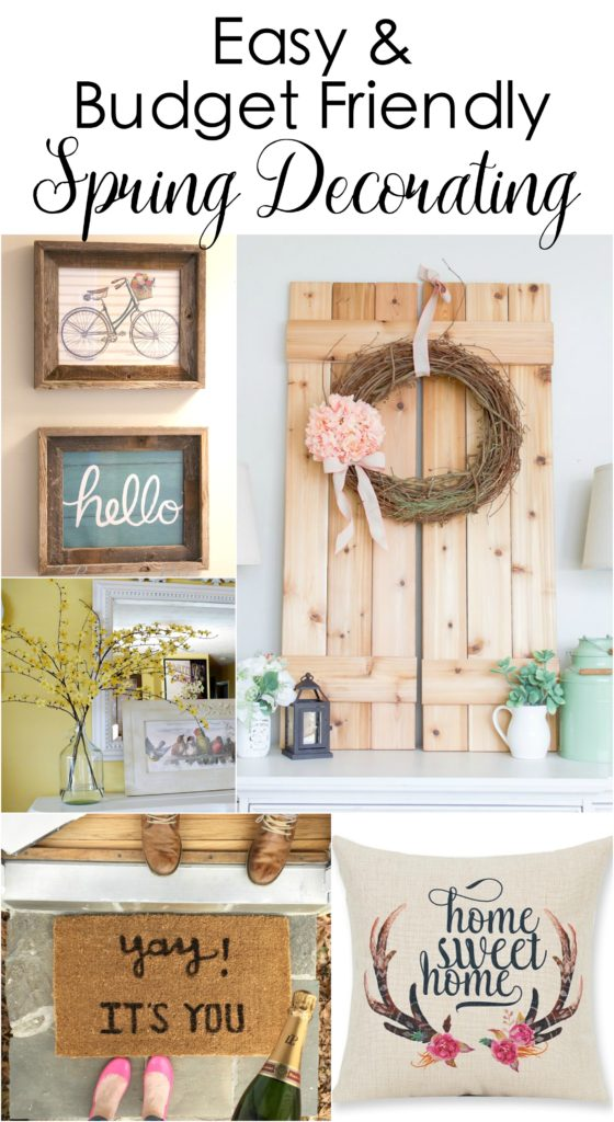 This is great for cheap and easy ideas for spring decorating.