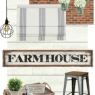 Industrial Farmhouse Kitchen Nook – One Room Challenge Week 1