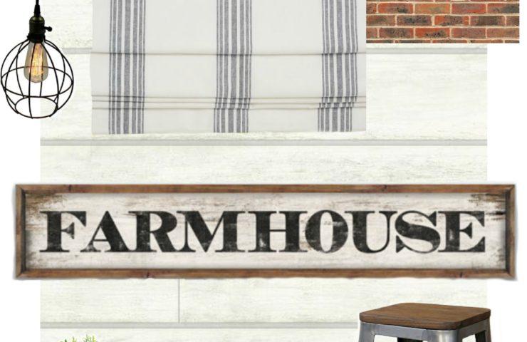 Industrial Farmhouse Kitchen Nook – One Room Challenge Week 1