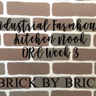 Industrial Farmhouse Kitchen Nook – One Room Challenge Week 3