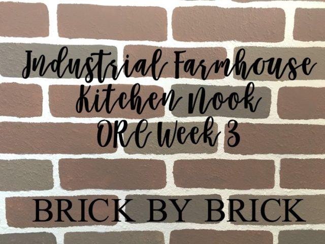 Industrial Farmhouse Kitchen Nook – One Room Challenge Week 3