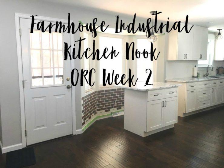 Industrial Farmhouse Kitchen Nook – One Room Challenge Week 2