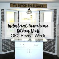 Industrial Farmhouse Kitchen Nook – One Room Challenge Final Week
