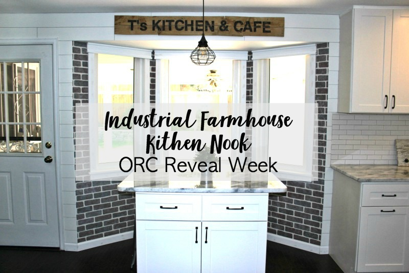 Industrial Farmhouse Kitchen Nook – One Room Challenge Final Week