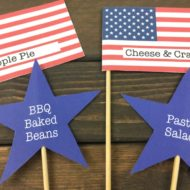 FREE 4th of July Printable Food Labels