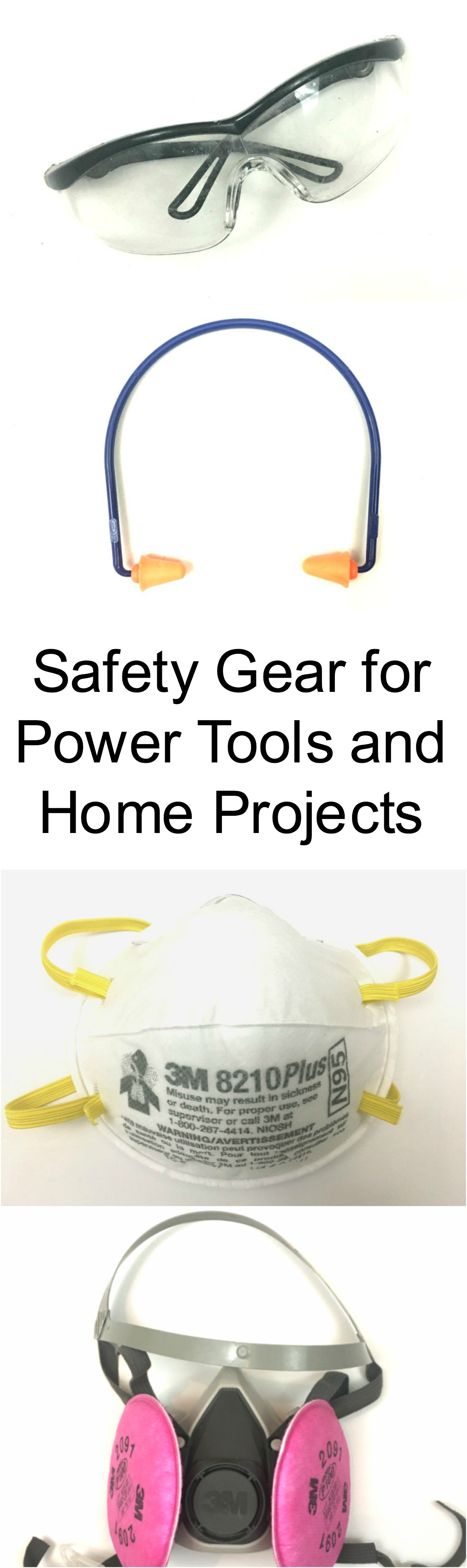 Makes sure you have the basic safety gear when working with power tools and home projects