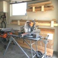 Easy DIY Garage Wood Holders