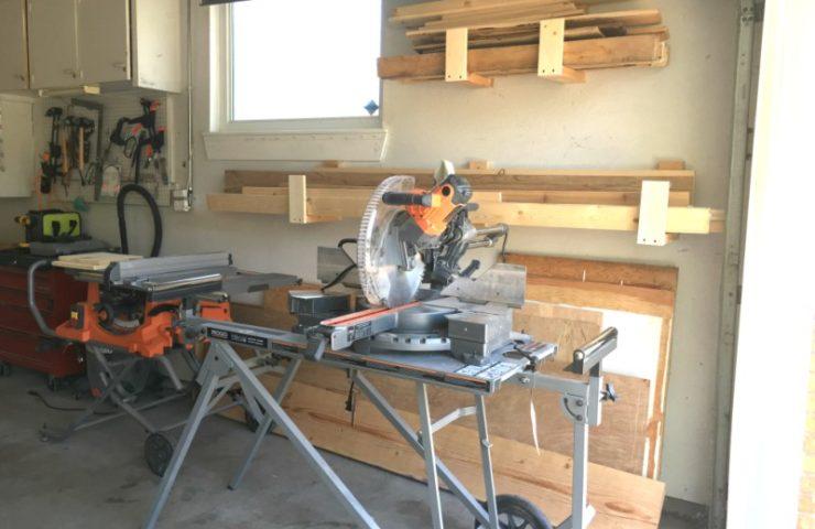 Easy DIY Garage Wood Holders