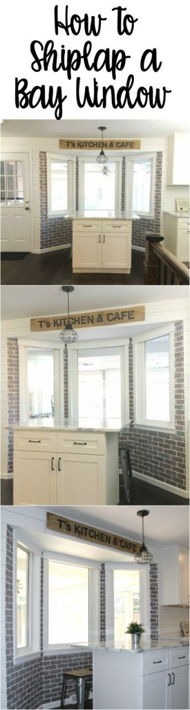 I love shiplap? I have a bay window I could totally do this too.
