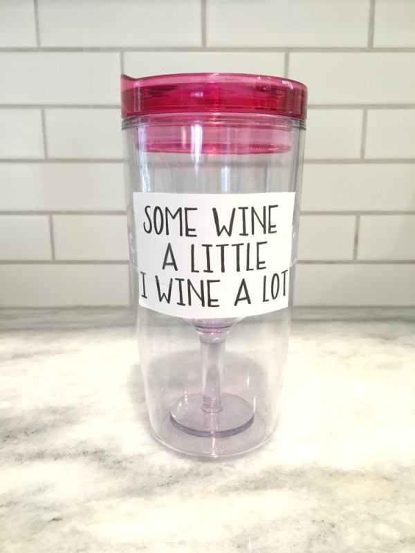 How To Make Personalized Wine Tumblers With Free Wine