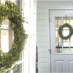 How to Make a Boxwood Wreath for $10