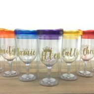 How to Make Personalized Wine Tumblers with FREE Wine Quotes Printable