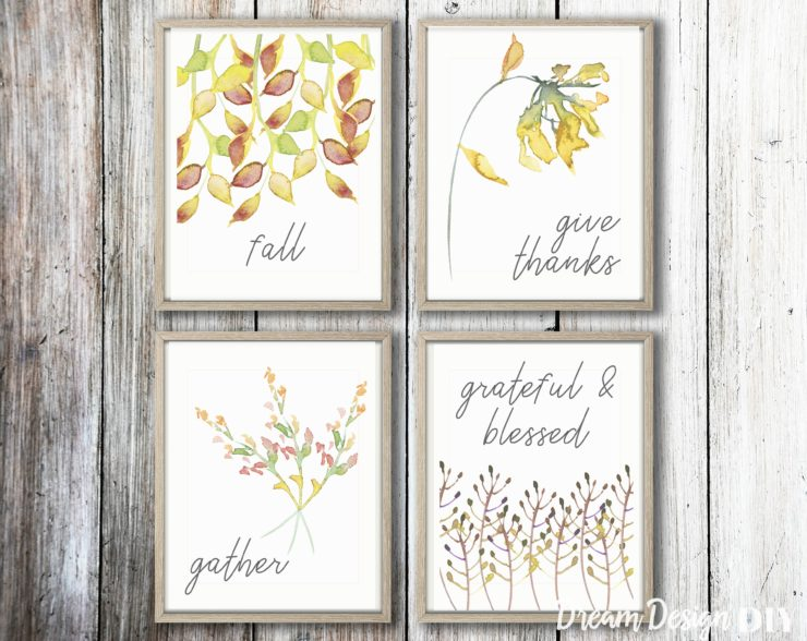 FREE Fall Printables – Quick and Easy Decorating for the Fall