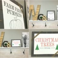 How to Give Wood a Faux Planked Look Plus FREE Printables