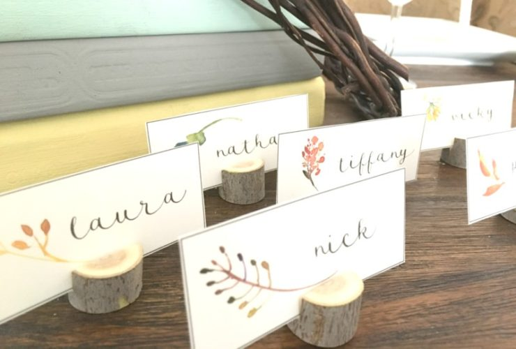 FREE Thanksgiving Place Card Printable – Easily Create a Welcoming Dining Table