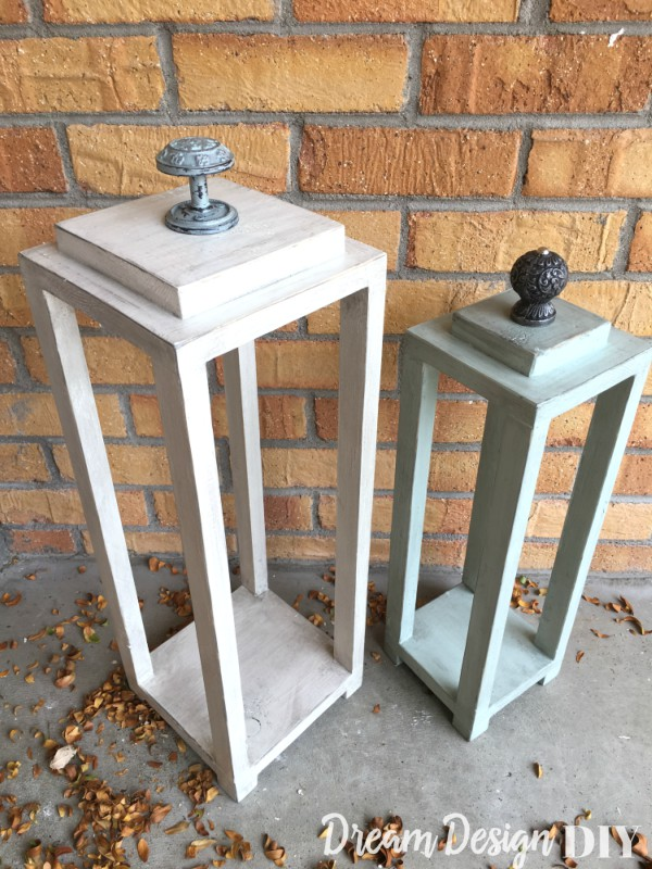 Make your own easy DIY wood lanterns from scrap wood. Lanterns are very versatile for decorating both inside and outside and they add ambience to a space. They make great centerpieces at weddings or for a party. They work in several decorating styles such as modern styles, coastal decor or a rustic, farmhouse, vintage style. #lanterns #woodlanterns #rustic #coastal #homedecor
