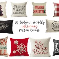 20 Budget Friendly Christmas Pillow Covers