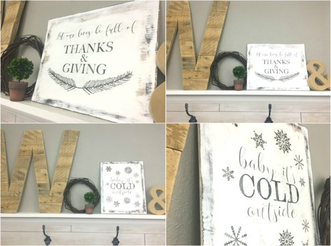 How to Easily Transfer an Image to Wood with FREE Thanksgiving and Christmas Printables