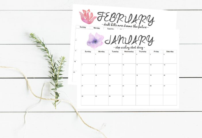 FREE 2018 Calendar Printable