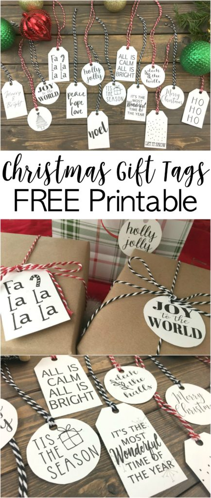 Print your own Christmas tags. The black and white is perfect to match with any colored wrapping paper or ribbon.