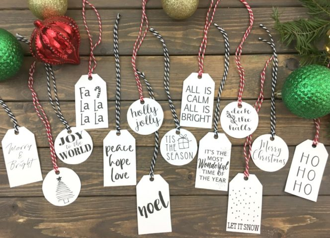 Simple Christmas Gift Tags – FREE Printable