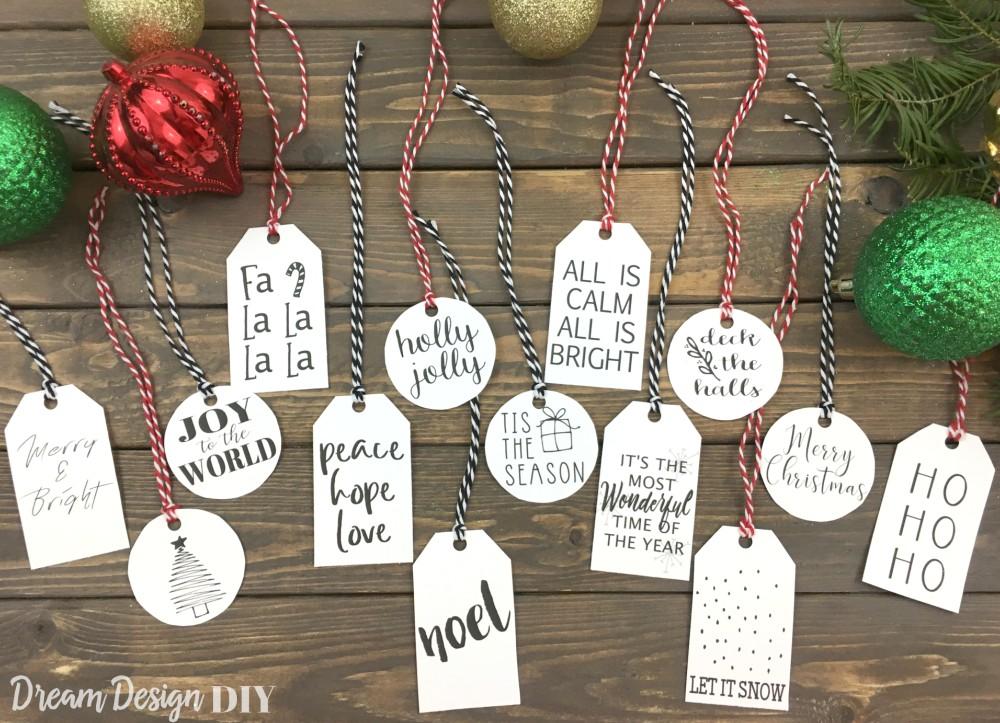 Simple Christmas Gift Tags Free Printable Dream Design Diy