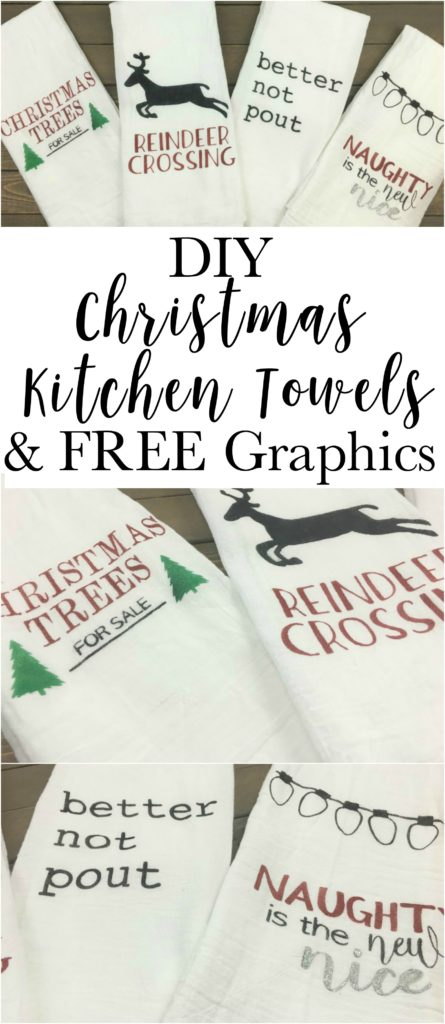 Make your own fun Christmas towels. Super easy, cheap and quick. Make some for a gift and some for yourself.