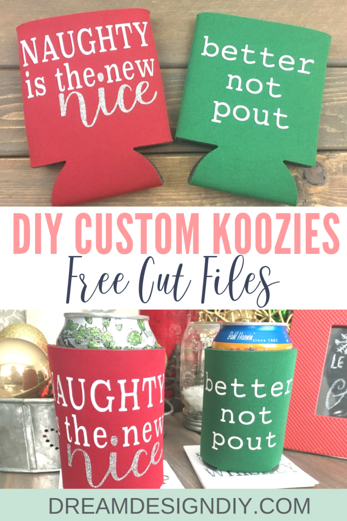 Add your own personal design to koozies! Makes a great gift or stocking stuffer.