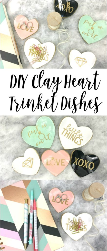 Make your own heart trinket dishes to keep all your small items in.