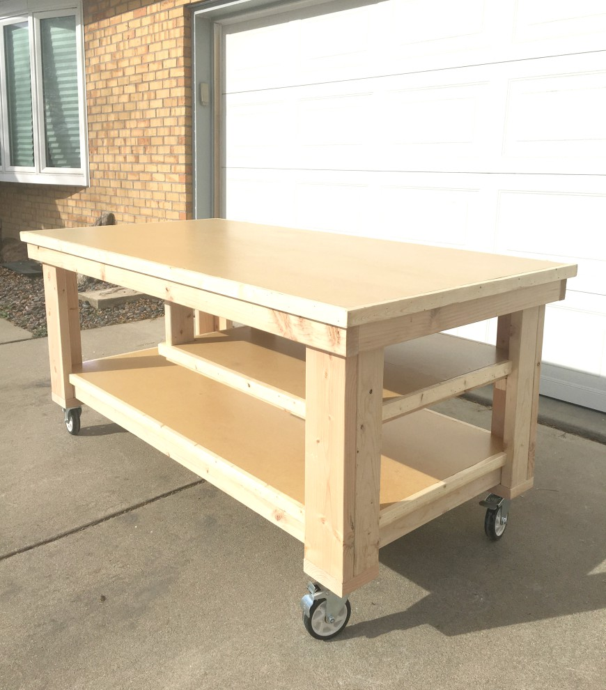How to build the ultimate diy garage workbench free plans for Build your garage online