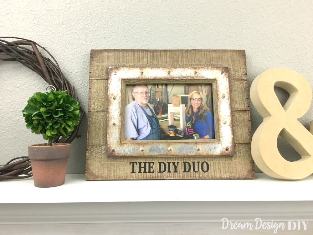 How to Easily Personalize a Picture Frame - Dream Design DIY