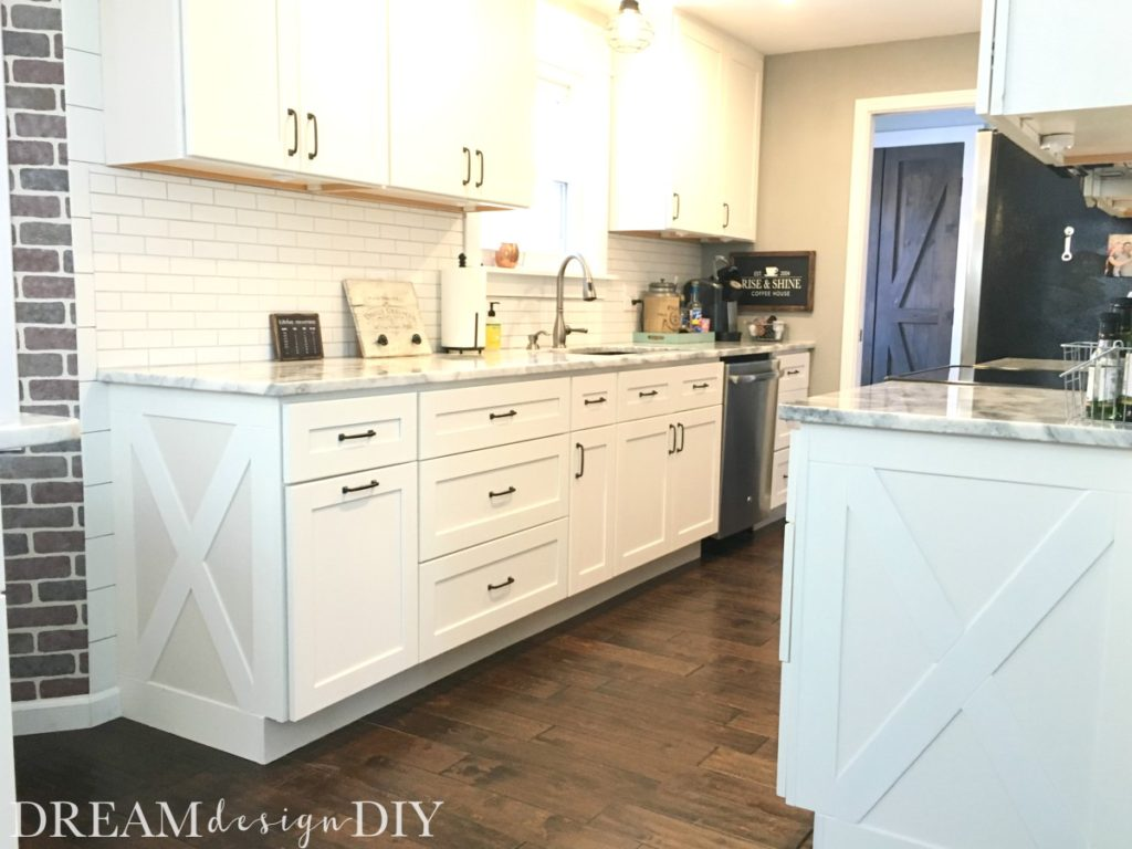 Adding character to your kitchen farmhouse cabinet trim for Building your own kitchen cabinets cost