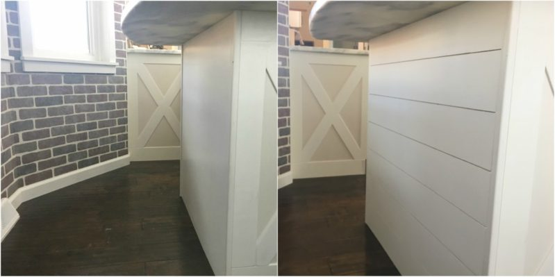 How to Add Shiplap to a Kitchen Island – Easy Budget Friendly Way to Add Character
