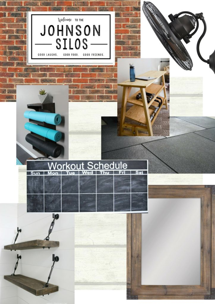 Industrial Home Gym Makeover Week 1 One Room Challenge