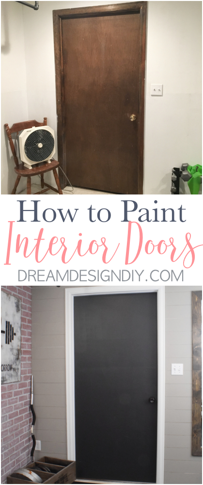 Painting interior doors is an easy and budget friendly DIY. Paint color ideas include shades of blue, gray, tan, green, red and even black. What about transforming the plain white door in your kitchen pantry to mint green that adds a farmhouse rustic touch or paint the hallway doors dark gray? These ideas that will add a statement and style to your home's interiors. #paintinginteriordoors #interiordoors #simpledecor #budgetfriendly