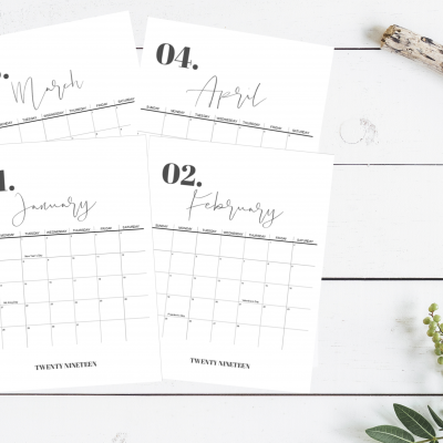 2019 Calendar with Holidays – FREE Printable