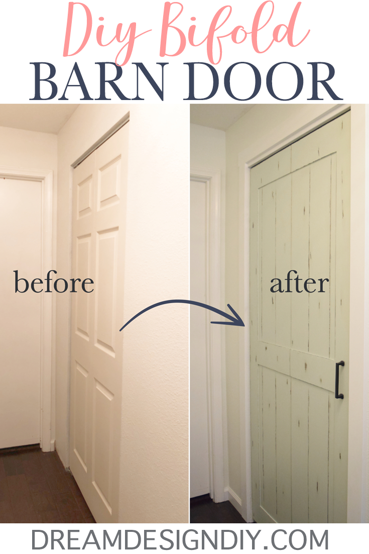 For 15 Easily Turn A Bifold Door Into Barn By Adding Sheet Of
