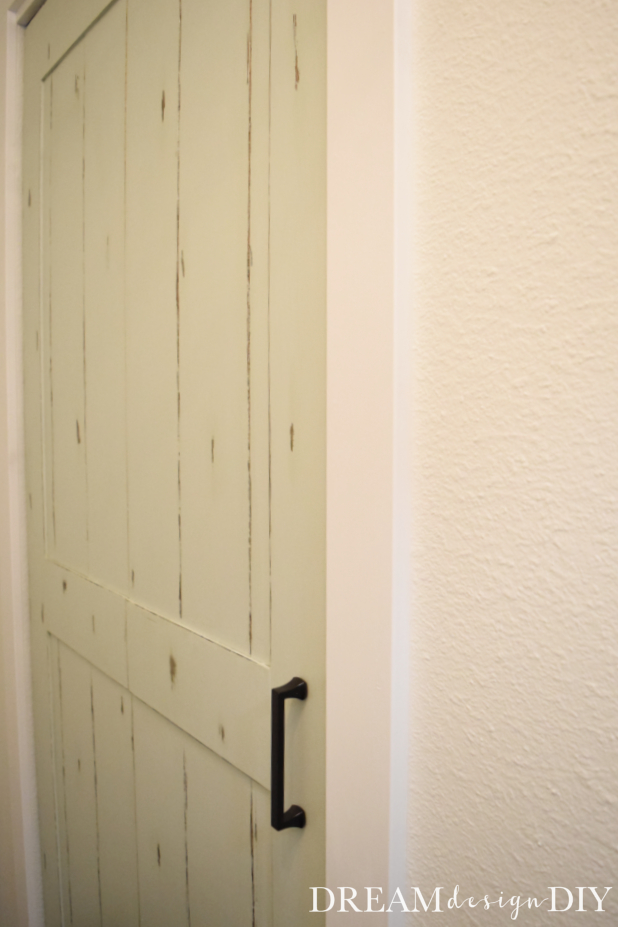 Adding trim to a doorway or closet door adds extra style and character to a hallway, bedroom, kitchen or any space that has a closet. This tutorial shows you one additional step when your closet is a bifold door. This easy DIY tip to add trim to the top of the opening minimizes the gap above the bifold door and completes the look of the closet. #bifolddoor #diy #closet #doortrim